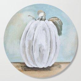 Tall white pumpkin Cutting Board