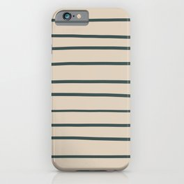 Night Watch PPG1145-7 Hand Drawn Horizontal Stripes on Sourdough Beige Tan PPG1084-3 iPhone Case