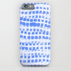 Abstract azure navy pattern Slim Case iPhone 6s