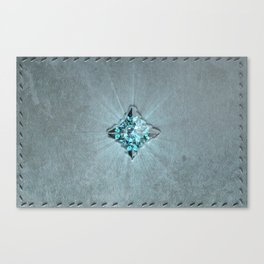 Fantasy Leather Book with Jewel Canvas Print
