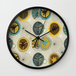 Pies in Mod style Wall Clock