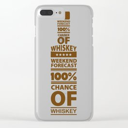 Weekend Forecast 100% Chance of Whiskey Clear iPhone Case