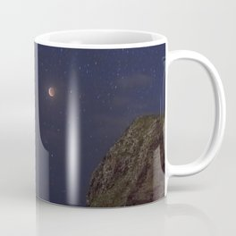 Super Blood Wolf Moon Eclipse Over Makapu'u Point. Coffee Mug
