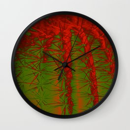 Cacti Abstract II Wall Clock