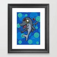 Poony the Harpooned Dolphin Framed Art Print