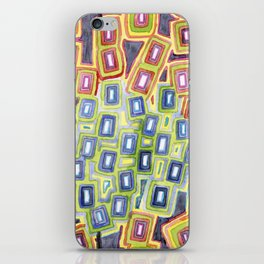 Pattern with few Restraining Black Lines iPhone Skin