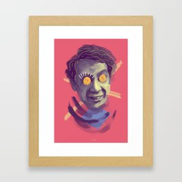 LGBTQ Harvey, POP art style, digitally painted Framed Art Print
