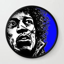 Jimi Hendrix Pop-Art (Blue) Wall Clock