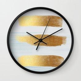 Golden sea Wall Clock