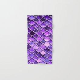Pantone Ultra Violet Glitter Ombre Mermaid Scales Pattern Hand & Bath Towel