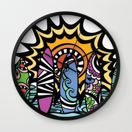 Stoked Surfboards Wall Clock