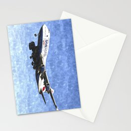 One World Boeing 747 Art Stationery Cards