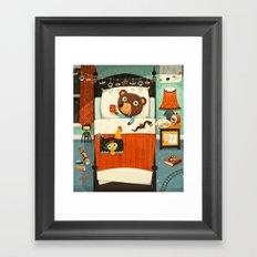 Bedtime for dragon hunters Framed Art Print