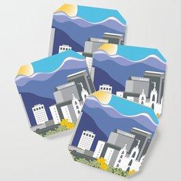 Salt Lake City, Utah - Skyline Illustration by Loose Petals Coaster