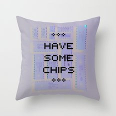 Have some chips Throw Pillow