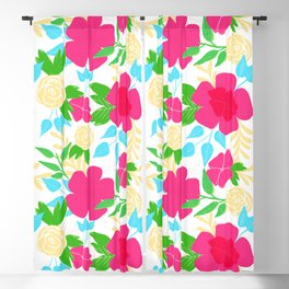 03 Pattern of Flowers Blackout Curtain