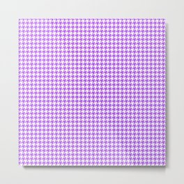 Lilac Houndstooth Pattern Metal Print