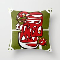 liverpool Throw Pillows featuring Suarez - Liverpool  by Ray Kane