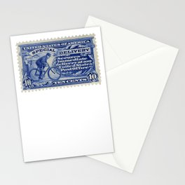 Special Delivery 1902 vintage blue postage stamp Stationery Cards