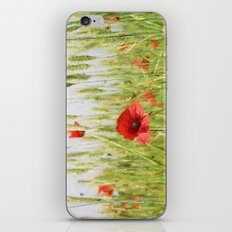 Poppies In The Fields. iPhone & iPod Skin
