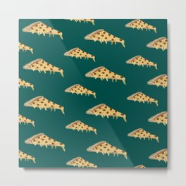 Sausage Pizza Metal Print