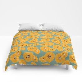 Retro bloom 003 Comforters