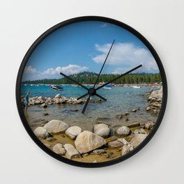 Lake Tahoe Beach Wall Clock