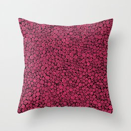 Pink Spirals Throw Pillow