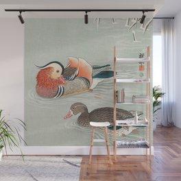 Ohara Koson - Mandarin ducks Wall Mural