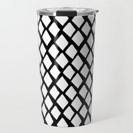Rhombus White And Black Travel Mug