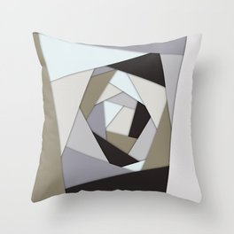 Rotating Geometric Layers Throw Pillow