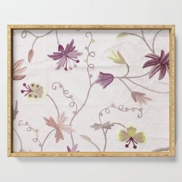 Custom Elegant Floral Pattern Serving Tray