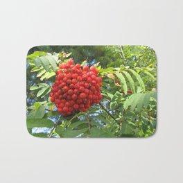 Red rowan clusters Bath Mat