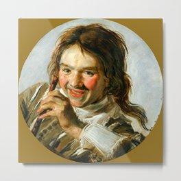"Frans Hals ""Boy holding a Flute (Hearing)"" Metal Print"