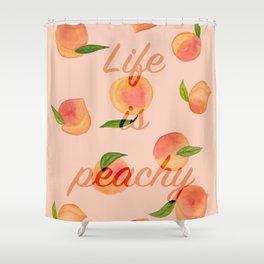 Life is peachy print Shower Curtain