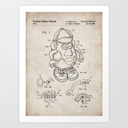Mr Potato Head Patent - Potato Head Art - Antique Art Print
