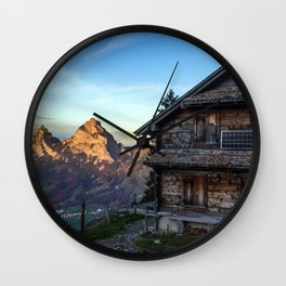 Swiss Hut Wall Clock
