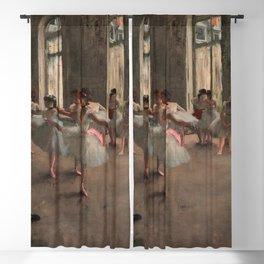 Classical Masterpiece 'The Ballet Rehearsal' by Edgar Degas Blackout Curtain