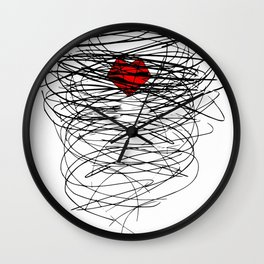 Stormy relationship Wall Clock