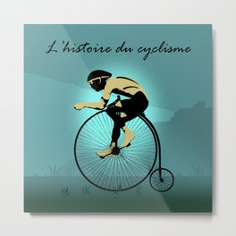 The Story of Cycling Metal Print