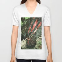 waterfall V-neck T-shirts featuring waterfall by Caroline A