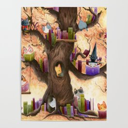 The library in the tree Poster