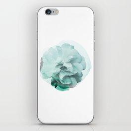 Green Rose Watercolor iPhone Skin