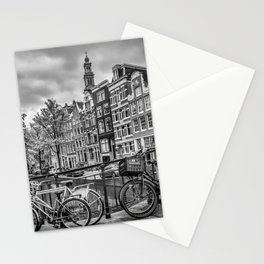 AMSTERDAM Flower Canal black & white Stationery Cards