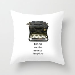think.write.create.inspire. Throw Pillow