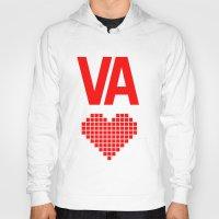 virginia Hoodies featuring Virginia Love by Hum Chee