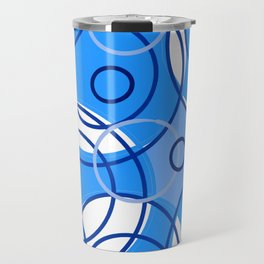 Blue circle design Travel Mug