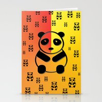 pandas Stationery Cards featuring Pandas by Gaspar Avila