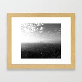 Los Angeles. L.A. Skyline. Black and White. Jodilynpaintings. Sunrise. Sunset. Cityscape. California Framed Art Print