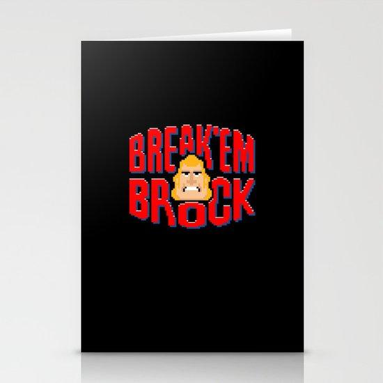 Break'em Brock Stationery Cards